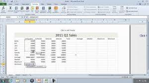 excel 2010 tutorial 6 worksheet function example sum average