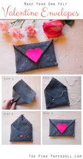 Make Your Own Envelope Make A Felt Heart Envelope The Pink Paperdoll