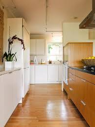 kitchen a simple and modern brown kitchen design with a yellow