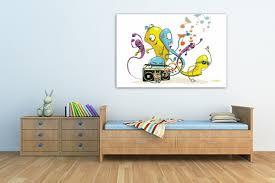 tableaux chambre bébé tableau déco chambre enfant worms par vain izoa