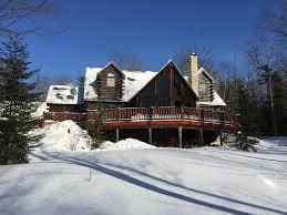 Cabin Style Luxury Log Cabin Style Family Ski Lodge Homeaway Bethel