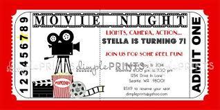 movie ticket invitation template free printable free printable
