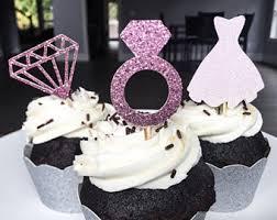 bridal shower cupcake toppers diamond ring topper diamond
