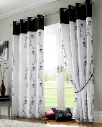 Black And White Curtain Designs Black And White Curtains Design Home Design Ideas