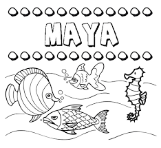 imagenes mayas para imprimir de los nombres nombre maya para pintar colorear e imprimir