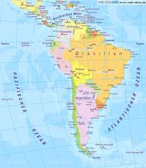 The Map Of South America by Map Of South America Politically Several States Map In The