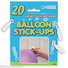 20 hanging balloon stick ups ceiling wall stickers birthday