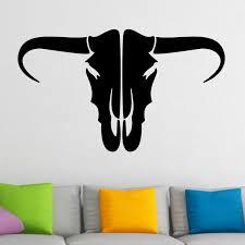 buffalo skull silhouette wall sticker world of wall stickers buffalo skull silhouette wall sticker decal a
