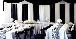 black and white wedding reception decorations wedding