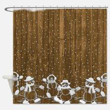 Snowman Curtains Kitchen Snowman Shower Curtains Snowman Fabric Shower Curtain Liner