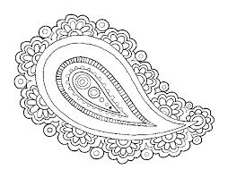mandala teardrop coloring coloringcrew