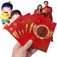 new year pocket 6pcs fu festival envelope lucky money bag new
