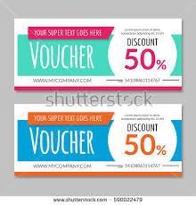 gift card discount discount voucher certificate gift card design stock vector