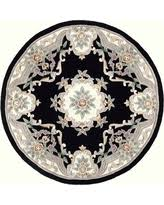Black Round Rug Bargains 26 Off Rugs America Round New Aubusson Area Rug 6 Feet