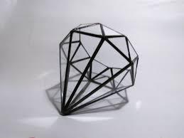 diamond glass diamond terrarium geometric diamond minimalism