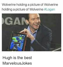 Wolverine Picture Meme - wolverine holding a picture of wolverine holding a picture of