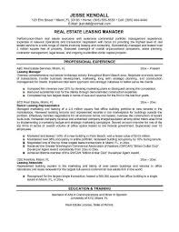 Commercial Real Estate Resume Real Estate Manager Resume Professional Property Manager Real