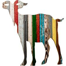 Goat Decor Recycled Goat Wall Art Custom Vintage Signs