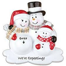 expecting family pregnancy ornament home