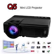 Lcd Q5 2016 newest q5 lcd portable mini projector 800 lumens hd usb tf