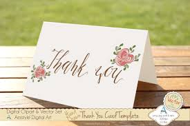 thanksgiving card wording thank you pink rose card template card templates creative market