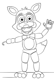 fnaf mangle coloring pages mangle from five nights at freddy s coloring page free printable
