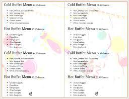 menu for party cerescoffee co