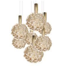 limburg bubble glass globe chandelier brass pendant lamp modernist