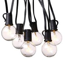 outdoor globe light chain party string lights for porch