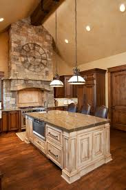 Granite Island Kitchen Kitchen 29 Kitchen Brown Wooden Kitchen Island With White