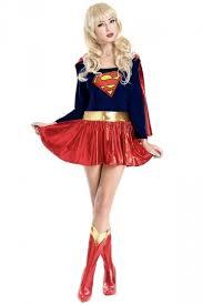 Woman Superhero Halloween Costumes Red Cloak Golden Belt Superwomen Costume Female Superhero Costumes