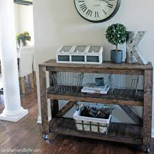 Entryway Console Table Easy Diy Wooden Entryway Console Table Beckham