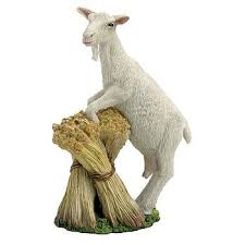 goat figurine farmyard animal sculpture goat figurine