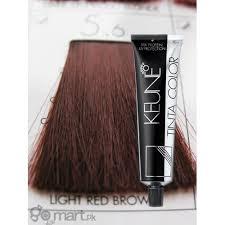 light reddish brown color keune tinta color light red brown 5 6 hair color dye gomart pk