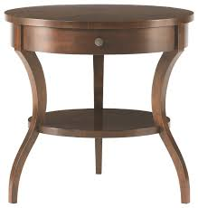 modern round end table elegant round end tables throughout elation table furniture macy s