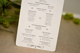 wedding day programs classic simple navy blue script wedding day program