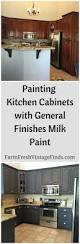 Paint Finishes For Kitchen Cabinets by Painting Kitchen Cabinets With General Finishes Milk Paint Farm
