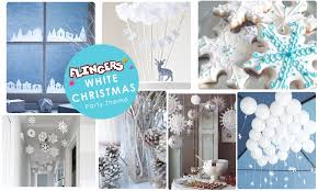 flingers party shop blog white christmas party ideas