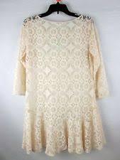 people deco lace mini dress in ivory women u0027s size 2 ob543805 ebay