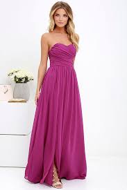 lovely magenta purple gown strapless dress maxi dress 82 00