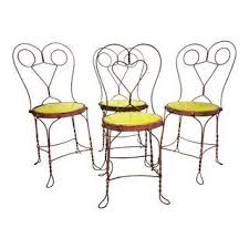 Yellow Bistro Chairs Vintage Used Yellow Dining Chairs Chairish