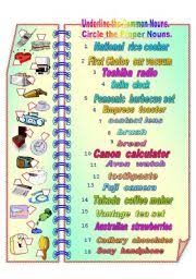 proper and common nouns 1 fully editable with answer key