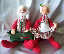 vintage santa claus and mrs claus annalee dolls sold on ruby