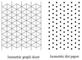 isometric dot paper isometric grid paper for drawing 3 d figures