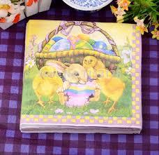 easter napkins easter napkins color printing paper towels bunny wedding
