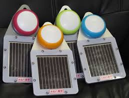 solar powered lamps built for japan use dye sensitized solar cells