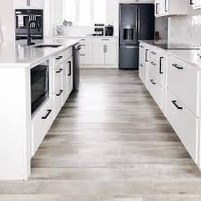 can i put cabinets on vinyl plank flooring 10 kitchens with vinyl plank