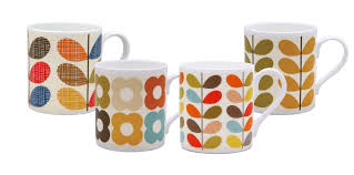 Design Mugs by 4 X Orla Kiely Mixed Design Mugs Amazon Co Uk Kitchen U0026 Home