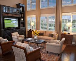 Two Story Drapes Houzz - Two story family room