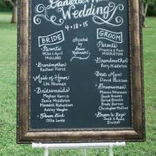 chalkboard wedding program chalkboard weddings